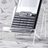 Wholesale New Clear Cell Phone MP3 MP4 Holder Plastic Store Sale Show Display Stand Decor