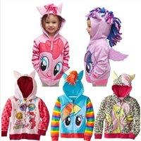 Wholesale Girls Sweatshirts Autumn Children Outerwear Fashion Girl hoody jackets coats zipper outerwear Hoodies Clothing in stock