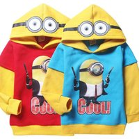 Wholesale Despicable Me Baby Boy Girls Fashion Hoodies Sweater Kids Winter Color Plus Thick Cashmere Sweater Children Christmas Gift