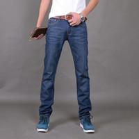 Wholesale 2015 Famous Brand men jeans New Fashion Men s Jeans slim fit Italian Jeans Men Cotton Denim Pants Dark Blue Large Size FG1511