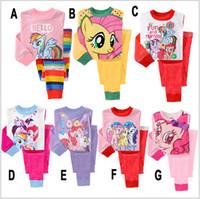 cotton nightgown - 40set BBA2277 color kid my little pony pajamas pyjamas girl my little pony sleepwear suit nightwear suit Toddler nightgown Loungewear