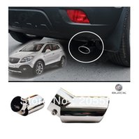 Wholesale 1PC Stainless Tail Exhaust Muffler Cover Trim Exterior fit For Buick Encore OPEL VAUXHALL MOKKA