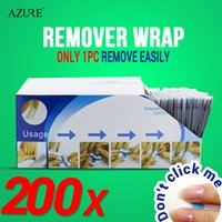 Wipes & Pads acrylic remover - 200pcs Nail Art Soak Off Acrylic Nail Color polish UV Gel Remover Nail Wraps Cleanser