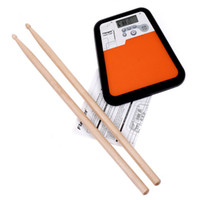 Wholesale Portable Drum Practice Pad Flanger Digital Drummer Training Drum Practice Pad Metronome Top Quality