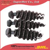 human braiding hair - 5a unprocessed brazilian virgin human hair extensions deep wave curly hair weaves machine braiding wefts bundles