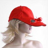 solar fan cap - Men Women Solar Power Hat Cap with Cooling Fan for Outdoor Golf Baseball Fashion Sport US DHL FREE HM357