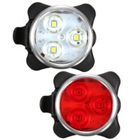 Wholesale new arrival USB Rechargeable Cycling Bicycle Bike LED Head Front Rear Tail Clip Light Lamp high quality