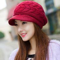 Wholesale Womens Lady Winter Warm Knitted Crochet Slouch Baggy Beanie Hat Cap FM0459