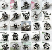 Wholesale 2015 Fashion Silver Pandora Loose Beads space European Style Rhinestone Resin Crystal Alloy Clay Charm Fit DIY Braceles Necklace