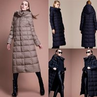Cheap In Stock Women's Down Coat Hooded Womens Outerwear New Arrival Winter Warm Clothing Womens Long Down Parkas