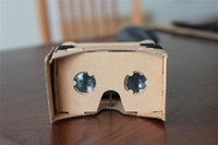 Wholesale 2014 New DIY Google Cardboard Valencia Quality d Vr Virtual Reality Glasses with Silver Ring no NFC