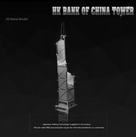 banks world - HK BANK OF CHINA TOWER HK nanyuan DIY D Metal model Nano Puzzles Famous buildings over the world gifts Chinese ICONX