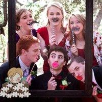 photo glass - 31pcs Set Funny Wedding Photo Props on a Stick Mask Beard Mustache Hat Glasses Lips Birthday Party Decoration Supplies H11793