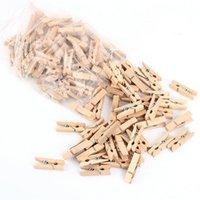 Wholesale 100PCS Mini Natural Wooden Clothe Photo Paper Peg Clothespin Craft Clips MM