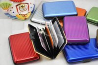 Wholesale Hot Aluminium Credit card wallet case card holder bank case aluminum wallet variable colour for