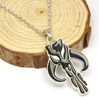ancient war - Star Wars Mandalorian ancient silver pendant necklace Valentine jewelry Pop hip hop movie necklace H16