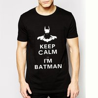 batman underwear men - Humor Funny Cartoon Batman T Shirts keep Calm I Am Batman shirts Short Sleeve Underwear Design Top Tees T shirts