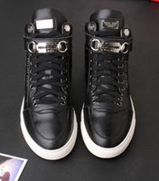 Cheap brand PP buckle leather high-top Sneakers shoes PHILongIPP *PLEINnyu