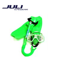 advance fin - New Big Vision Design Snorkeling Goggles Children Kit Advanced PC Material High Quality Fins Breathing Tube Mask JL113C