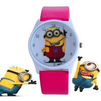 Wholesale Despicable Me children wristwatches boys and girls Creative Minions Cartoon watch fashion gifts for kids LD085