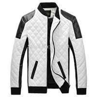 Wholesale Hot sale winter spring mens white leather jackets and coats jaqueta de couro masculina men biker jacket leather coats jacket men