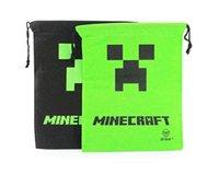 Backpacks draw string bag - 2014 New Minecraft Bag Backpack Creeper Draw String Sling Bag Gift Bag Sport Bag High Quality