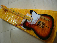 basswood body guitar - High Quality Merle Haggard Guitar TUFF DOG Tone Sunburst Electric Guitar HOT
