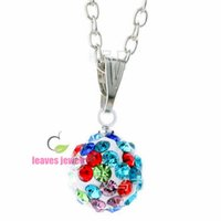 accessories disco ball - Newest fashion European disco ball crystal necklace pendant DIY Statement Jewelry Accessories best gifts for my dear free chain