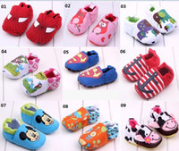 Wholesale Baby Boys Girls Spider Man Superman Mickey Minnie Mouse soft Non slip toddler shoes Kids Babies first walker shoes
