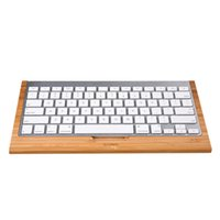 apple computer wholesale - 100 SAMDI Bamboo Bluetooth Wireless Keyboard Stand Protective Case Cover Practical Holder Bracket for Apple iMac PC Computer C2155