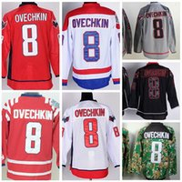 alexander gray - Factory Outlet Washington Alex Ovechkin Jersey Red White Black Ice Gray Winter Classic Alexander Ovechkin Hockey Jerseys All Stitching Me