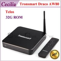 Wholesale Allwinner A80 Octa Core Tronsmart Draco AW80 Telos Android OS TV Box G G support OTA DLNA Dual WIFI k k H AC SATA