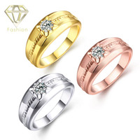 affordable bridal sets - Affordable Engagement Rings Delicate K Rose White Gold Plated with Cubic Zirconia Created Diamond Wedding Ring Bridal Jewelry for Women
