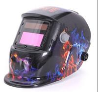 Wholesale Welding Helmet Mask Solar Auto Darkening Welding Helmet Arc Tig Mig Mask Weld Welder Lens Grinding Mask Black love