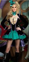 Wholesale Womens Sexy Mad Hatter Tea Party Alice In Wonderland Fancy Dress Costume Corset
