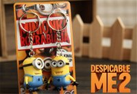 Wholesale 50pcs CM D Despicable Me Cartoon Minion Action Figure Keychain Lover Keyring Key Ring Mobile Chain For Christmas Gift Toy Set