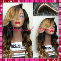 Wholesale Beautiful Fashion two tone color wig Glueless Lace Front Wig Ombre Full Lace Wig with baby hair and in Stock