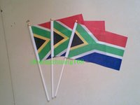 africa country flag - 100PCS Promotion The Republic of South Africa Flag all countries and banners custom Hand Waving Flag cm cm