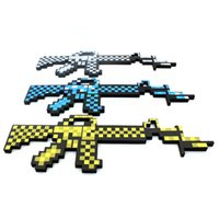 Wholesale quot New Arrivals quot Minecraft Foam Machine Gun Blue Grey Gold Color In Stock