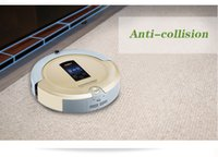 Wholesale 4 In Multifunction Auto Sweep Vacuum Robot Vacuum Cleaner Mop Sterilize With LCD Touch Screen Virtual Wall and Self Charge