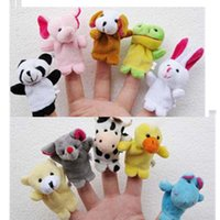 Wholesale Family games teaching props props animal finger doll animal finger double dual models appease toys y123