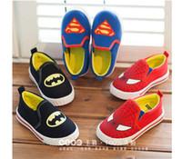 bats spider man - Cool kids shoes super hero fashion shoes children cartoon shoes canvas shoes casual shoes for boy bat man spider man shoes