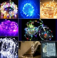 battery powered outdoor christmas lights - AA Battery Power Operated LED Copper Silver Wire Fairy Lights String M M M M Christmas Xmas Home Party Decoration Seed Lamp Outdoor