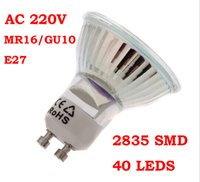 Wholesale 10 LED Spot lamp AC220V V MR16 E27 GU10 W SMD LED Warm White Pure White Spot Light Lamp Bulb LED