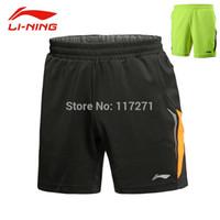 Wholesale New Li Ning Men Badminton sports shorts Incheon Asian Games Men Badminton Shorts Tennis Sport Shorts AAPJ541