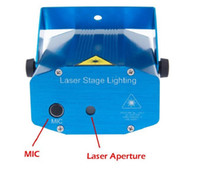 Wholesale Hot Stage Light Mini Laser Stage Lighting W Mini Green Red LED Laser DJ Party Stage Light Black Disco Dance Floor Lights DHL