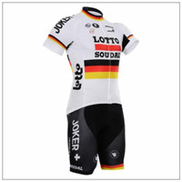 bianchi white - Lotto Bianchi JUMBO Bike Cycling Jersey Mens Men s Short Sleeve Cycling Jerseys Cycling Wear Tour De France Cheap Sportswear Set
