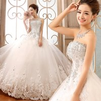Wholesale New Arrival Latest design Amazing Luxury Wedding Gowns Bride Dresses Crystals Wedding Dress for Wedding