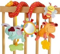 Wholesale bed around baby bed bell music box red honey bee baby car hanging educational toys