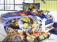 alternative bags - Cartoon Shrek Doona Bed Covers Cotton Alternative Flat Sheets Reversible Quilt Cover Children s Bed in A Bag Comforter Sets Twin
